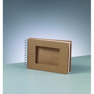 album-for-scrapbooking-a-521-x-15-cm-brun-25-sidor-cutout-rektangel