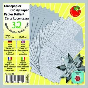 glansigt-papper-15-x-15-cm-silver-32-ark80-gm-blommigt