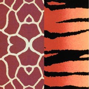 Color-Dekor färgfolie 180 °C 100 x 200 mm - 2 blandade färger 2 st tiger / Giraff