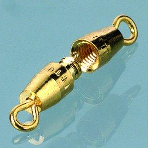 Halsbandslås 10 mm - guldpläterade 2 st. oliv