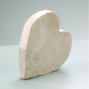 Täljsten blank ~ 6 - 8 cm - Hjärta