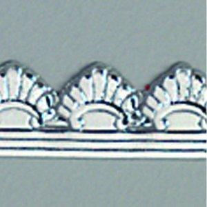 Vaxdekoration bård 10 x 200 mm - silver briljant 1 st. classic