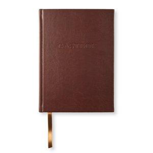 Gästbok Konstläder - Vintage Brown