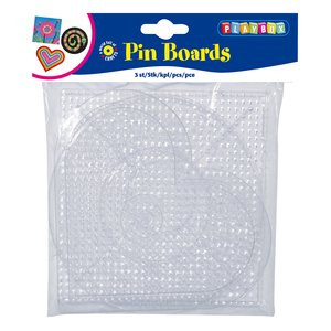 Transparenta pärlplattor (stora)