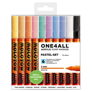 Akrylmarker One4All 2mm 10 Pennor - Pastel