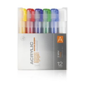 Montana Akrylmarker Set - 2mm 12 Pennor - A