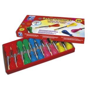 Barnpenslar L&B Skolförpackning - 20 Penslar
