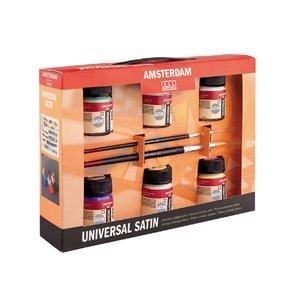Deco Universalfärg Satin Amsterdam - Målarset