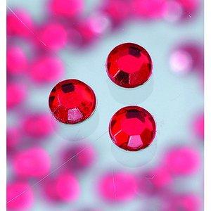 Strasstenar ø 3-5 mm - ljus siam ruby 20-pack påstrykes