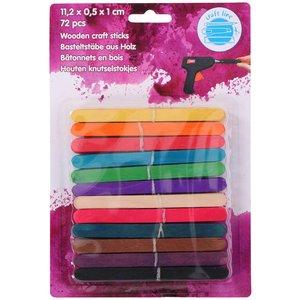 Glasspinnar Färg - 72-pack
