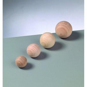 Obehandlade träbollar - utan hål (flera valbara storlekar)