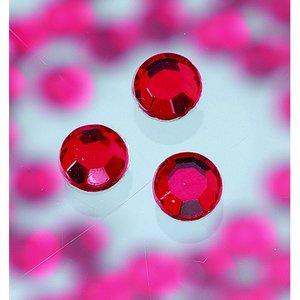 Strasstenar ø 3-5 mm - siam ruby 20-pack påstrykes