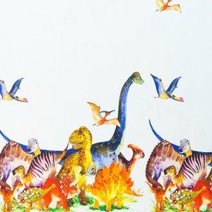 Mönstrad Trikå 150 cm - Dinosaurier