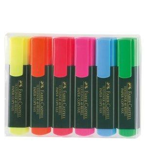 Överstrykningspennor Faber-Castell - 6 Färger