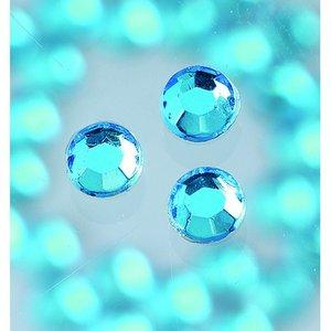 Strasstenar ø 3-5 mm - akvamarin 20-pack påstrykes