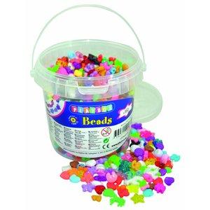 Plastpärlor i burk Blandade - 950 st