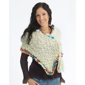Stickmönster - Stickad poncho-sjal