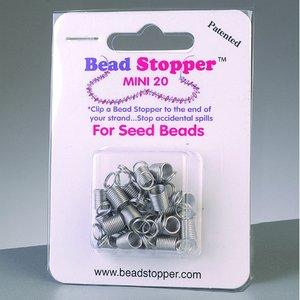 Pärlstoppare D 6 x 7 mm - silver 20-pack liten