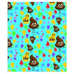 Kollegieblock A5 Rutat - Poop-emoji