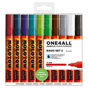 Akrylmarker One4All 4mm 10 Pennor - Basic II