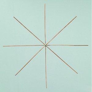 Ståltrådsstjärna för pärlor ø 15 cm x 0