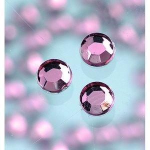 Strasstenar ø 3-5 mm - ljus ametist 20-pack påstrykes