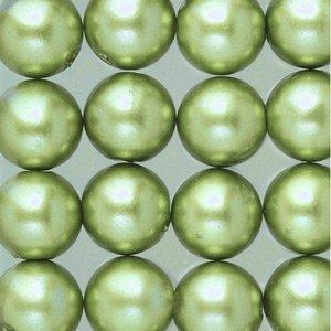 Vaxpärlor ø 8 mm - ljusgrön 32-pack