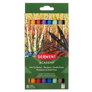 Derwent Academy Twin Tip Marker - 8 Pennor