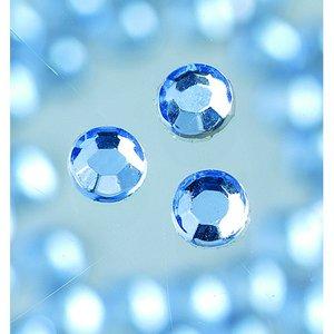 Strasstenar ø 3-5 mm - ljus safir 20-pack påstrykes