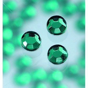 Strasstenar ø 3-5 mm - smaragd 20-pack påstrykes