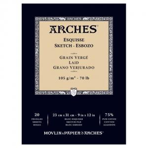 Skisspapper Arches 105g - 23x31 cm