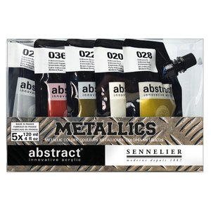 Akrylfärgset Sennelier Abstract - Metallics set 5 x 120ml