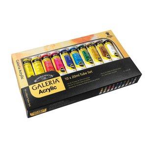 Akrylfärg W&N Galeria - Färgset 10x20 ml