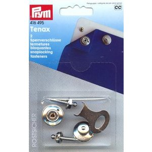 Tenax-Säkerhetsspännen mässing silverfärg 20 mm 2 st