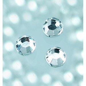 Strasstenar ø 3-5 mm - kristall 20-pack påstrykes
