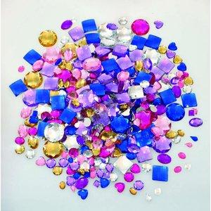 Kristallstenar för ringar och berlocker blandade - 1000 st