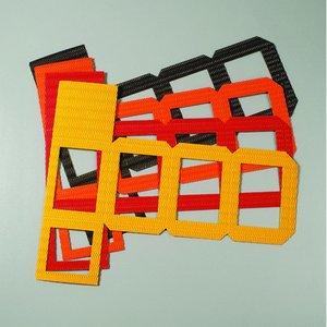 Lykta cutout 140 x 140 x 180 mm - 20-pack - blandade färger
