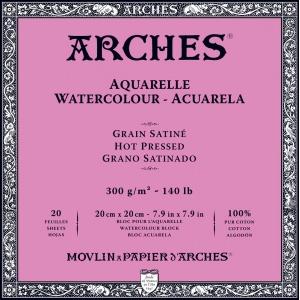 Akvarellblock Varmpressad Arches 300g