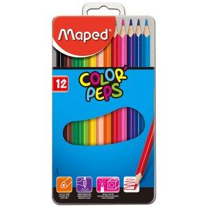 Färgpennset Maped - 12 Pennor