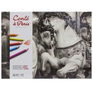 Pastellpennor Conté á Paris - 48 Pennor