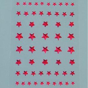 Strass akryl självhäftande 4 5 6 8 mm - röda 56-pack Stjärna