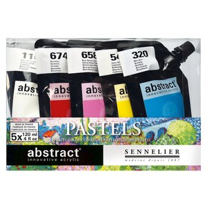 Akrylfärgset Sennelier Abstract - Pastel set 5 x 120ml
