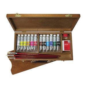 Akrylfärgset Lukas Cryl Studio - Wooden box