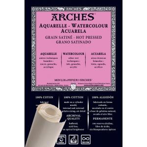 Akvarellpapper Varmpressad Rulle Arches 356g - 9m x 130 cm