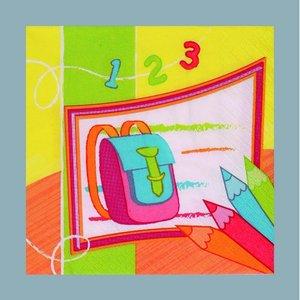 Servett - 3 lager 33 x 33 cm - gula flera färger 20-pack Skolstart