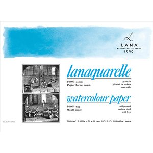 Akvarellblock Lana Lanaquarelle 300g Kallpressat Medium Gräng