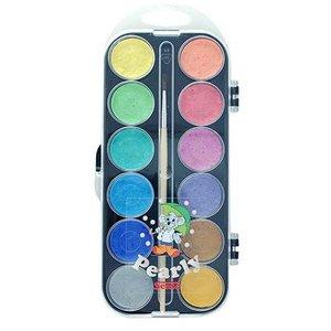 Vattenfärglåda Pärlemo Sense - 12 färger