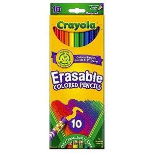 Färgpennor med sudd Crayola - 10 pennor