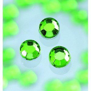 Strasstenar ø 3-5 mm - ljus smaragd 20-pack påstrykes