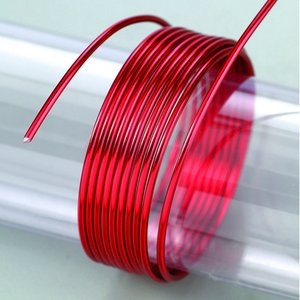 Aluminiumtråd ø 2 mm - röd 5 m / ~ 42 g